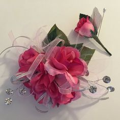 Pink Prom Wrist Corsage by ForeverRememberToday on Etsy