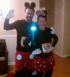 Minnie & Mickey Running Costumes! Skirt from Team Sparkle!