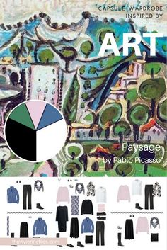A travel capsule wardrobe inspired by a color palette from Paysage by Pablo Picasso