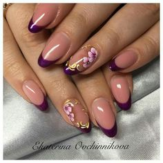 Nail Art Hacks, Gel Nail Art, Nail Manicure, Acrylic Nails, Cute Nails, Pretty Nails, Magic Nails, French Nail Art, Round Nails