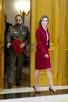 Royals & Fashion - Queen Letizia received a foundation at a hearing at the Zarzuela Palace, in Madrid.