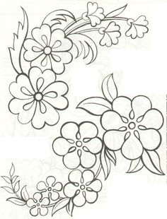 Grand Sewing Embroidery Designs At Home Ideas. Beauteous Finished Sewing Embroidery Designs At Home Ideas. Hand Embroidery Patterns, Applique Patterns, Ribbon Embroidery, Beading Patterns, Flower Patterns, Flower Designs, Embroidery Stitches, Machine Embroidery, Brush Embroidery