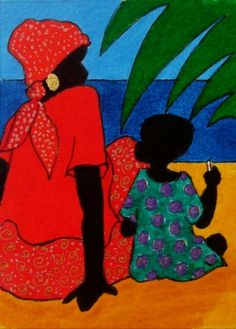 We have a special place in in our heart for beautiful southern art. One of our favorite types of southern art is Gullah Art. Black Women Art, Black Art, Afrique Art, African Quilts, African Art Paintings, Caribbean Art, Art Africain, Tropical Art, Wall Art Prints