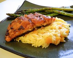 with lemon butternut squash orzo maple balsamic salmon with lemon ...