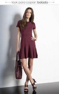 Burghundy dress