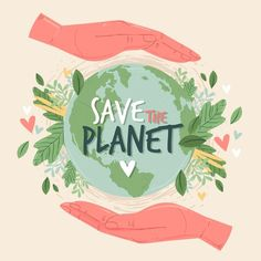 Salvar el concepto del planeta | Free Vector #Freepik #freevector #mundo #tierra #reciclar #natural Save Planet Earth, Save Our Earth, Save The Planet, Earth Day Drawing, Bellet Journal, Earth Quotes, Environment Day, Up Book, Happy Earth