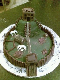 Motte and bailey castle, made for a school project