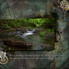 """Refrains of Nature. Created using """"About Time - Page Kit"""" by he{art} journaling. Photo taken by pbase user reflectionsofnature (used with permission). #theStudio #digitalscrapbooking"""