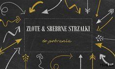 Złote i srebrne strzałki do pobrania, free gold and silver arrows, for download