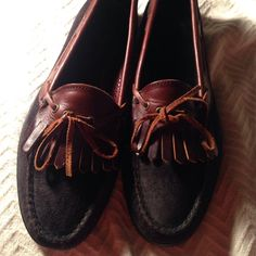 Mens Cole Haan Shoe Size 9-1/2 Mens Cole Haan Shoe Size 9-1/2. Black Suede with Brown Leather Accents. Never Worn Cole Haan Shoes Flats & Loafers