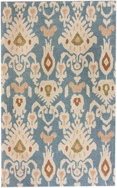 Rugs USA Santa Ana Faded Antique Ikat Dark Blue Rug
