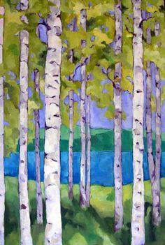 beth munro. Birch trees