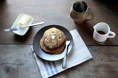 pumpkin cornmeal griddle cakes with warm maple syrup. coffee. similar ...