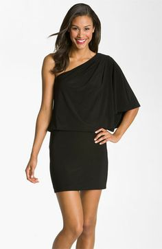 Customer favorite: this Jessica Simpson one shoulder jersey dress is perfect for drinks w/ friends, date nights & girls nights. $98 #Nordstrom