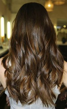 Cool Hairstyle 2014: Chocolate Brown Hair Color With Lowlights