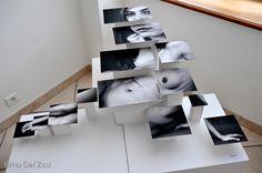 Photo-sculpture : Brno Del Zou  Idea dangling fishing wire so movement..?? Bubbles?