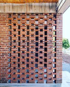 Brick Design, Facade Design, Exterior Design, House Design, Brick Images, Brick Bonds, Jaali Design, Masonry Work, Brick Art