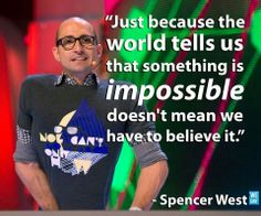 Spencer West was one of my favourite speakers at WeDay. Such an amazing story and a very inspirational speaker. No can't only how