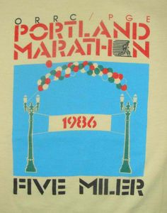 Vintage 86 ORRC PGC PORTLAND Marathon 5 Miler by vintageteesonline, $27.99