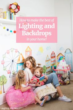 Newborn Lighting Setup  : How to make use of indoor lighting, and to find backgrounds and backdrops in your home