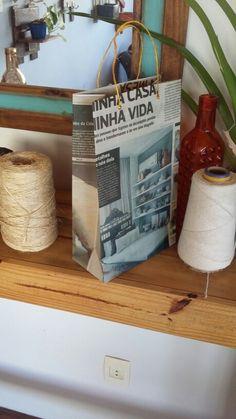 Sacolas  de jornal embalagem #GATOMALOKO