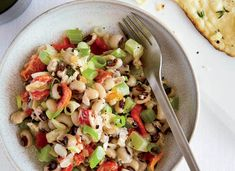 "black-eyed-pea salad Recipe from Food&Wine - Kevin Gillespie often serves this simple bean salad over thinly sliced tomatoes. ""They act like a plate underneath,"" he says. Kevin's Tip: In late summer, look for fresh black-eyed peas for salads. Pea Salad Recipes, Pea Recipes, Wine Recipes, Soup Recipes, Healthy Recipes, Vegetarian Recipes, Summer Recipes, Recipies, Vegetarian Salad"