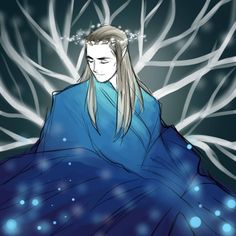 """Celeborn from """"Lord of the Rings"""" - Art by nevui-penim-miruvorrr.tumblr.com"""