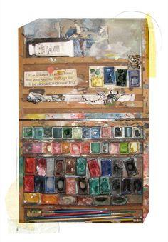 artistjournals:     shelly hesse's paint palette, via anthropologie's fb     (via mollyirwin)