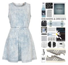 """""""why you aren't at school? - i'm busy with my polyvore set"""" by sonia-norman ❤ liked on Polyvore featuring Topshop, adidas, Nails Inc., Alicia Hannah Naomi, AT&T, Pelle, Fuji and Dogeared"""