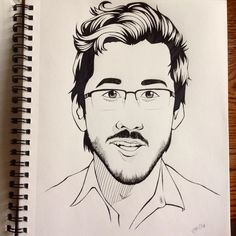 """It's Markiplier! Easiest person to draw so far. So, three faces down, two to go.  #markiplier #drawing #art #markiplierfanart #fanart #youtuber…"""