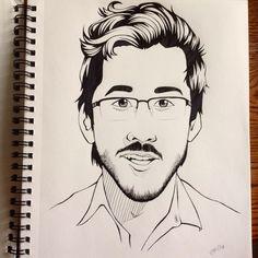 """""""It's Markiplier! Easiest person to draw so far. So, three faces down, two to go.  #markiplier #drawing #art #markiplierfanart #fanart #youtuber…"""""""