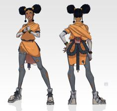 Female Character Design, Character Design References, Character Design Inspiration, Character Concept, Character Art, Concept Art, Character Ideas, Black Anime Characters, Girls Characters
