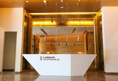 #LodhaSupremus#ReceptionArea#LodhaGroup#FabulousDesign