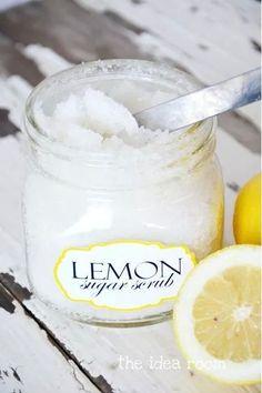 Lemon sugar scrubb