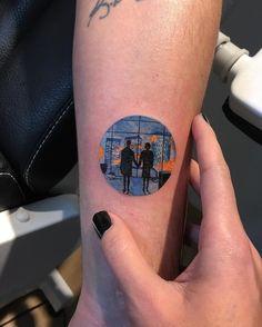 Fight Club tattoo by Eva Krbdk. Circle Tattoos, Forearm Tattoos, Body Art Tattoos, New Tattoos, Small Tattoos, Cool Tattoos, Sleeve Tattoos, Tatoos, Triangle Tattoos