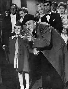 Margaret O'Brien and Jimmy Durante