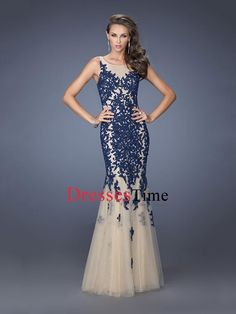 Popular Mermaid Lace Tulle Prom Dress PD2663