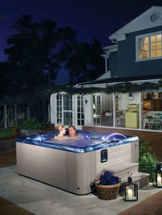 A Caldera #hottub. Add this Martinique® model to your #backyard.