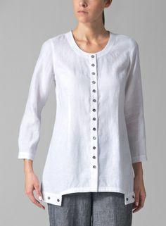 Vivid Linen long sleeved blouse..... a classic!