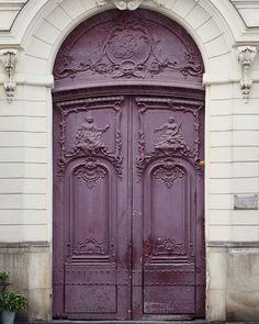 """Paris Photography, Purple Door Print, Fine Art Print, Old Door, French Home Decor, Paris Art, Architecture, Purple Art """"Ultra Violet"""""""