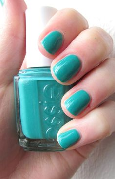Essie Naughty Nautical - Teal Toes for Ovarian Cancer Awareness Month (September)