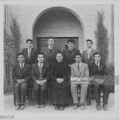 Officers of the Sodality of Our Lady, Baghdad College, Iraq, circa 1953-1954.