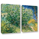 Found it at Wayfair - Lilacs by Vincent Van Gogh 2 Piece Gallery-Wrapped Canvas Set