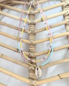 Seashell Jewelry, Handmade Beaded Jewelry, Seed Bead Jewelry, Cute Jewelry, Summer Jewelry, Summer Bracelets, Diy Necklace, Jewelry Patterns, Jewelry Design