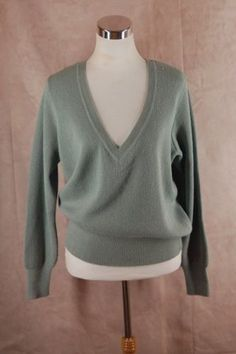 Peruvian Connection 100% Alpaca Sweater M Aqua V-neck Pullover - Upcycled Couture