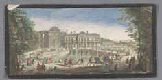 Gezicht op het Château de Saint-Cloud gezien vanaf de Chemin de Versailles, anonymous, 1730