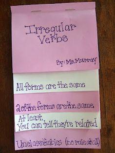 Irregular Verbs foldable!