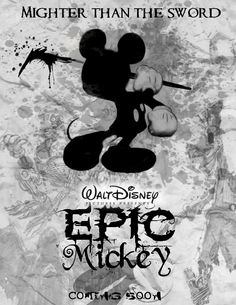 Disney Epic Mickey, Lucky Rabbit, Disney Dreams, Tim Burton, Mickey Mouse, Video Games, Doodles, Animation, Gemstones