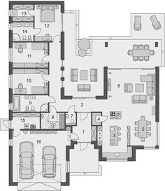Bedroom House Plans, Dream House Plans, House Floor Plans, Modular Home Floor Plans, Home Design Floor Plans, Property Real Estate, Sims House, Architect House, Modular Homes