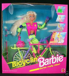 Bicylin' Barbie lol - I had this